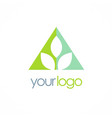 triangle leaf logo vector image vector image