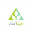 triangle leaf logo vector image