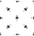 umbrella and rain drops pattern seamless black vector image vector image