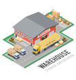 warehouse storage and delivery isometric vector image vector image