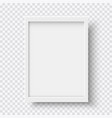 white blank picture frame realistic vertical vector image vector image
