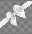 white realistic 3d bow and ribbon with clipping vector image