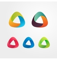 Triangle abstract logo set Elements for business vector image