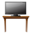 A television ona table vector image
