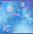 abstract blue sky background with blur bokeh light vector image