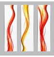 Abstract Colored Wave Header Background vector image vector image