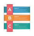 abstract paper infographic template business vector image