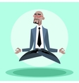 African businessman quiet hangs in the air like a vector image vector image