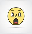 amazed emoji face with big eyes eps10 vector image