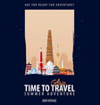 asia time to travel journey trip vacation vector image