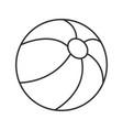 beach ball linear icon