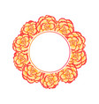 begonia flower picotee sunburst banner wreath vector image vector image