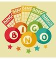 bingo or lottery retro game vector image vector image