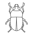 Bug icon outline style vector image vector image