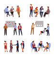 business teamwork and co-working presentation or vector image vector image