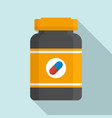 capsule sport nutrition icon flat style vector image vector image