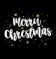card with the inscription merry christmas on a vector image vector image