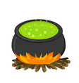 cauldron on firei in flat style vector image vector image