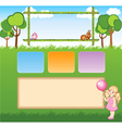 Child template for web site vector image vector image
