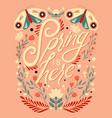Colorful decorative handwritten typography design