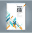 cover annual report 143 vector image vector image