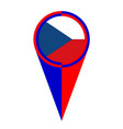 czech republic map pointer location flag vector image vector image