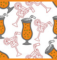 drinking glass pattern seamless template vector image vector image