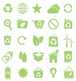 Ecology icons on white background vector image vector image