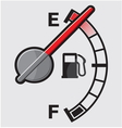 Empty gas tank indicator