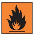 flammable hazard symbol vector image