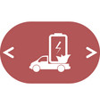 flat paper cut style icon of eco vehicle vector image vector image