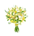 Floral bouquet for your design vector image