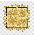 Golden randomly scattered stripes with black frame vector image