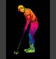 golf player action cartoon sport graphic