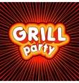 Grill party design vector image vector image