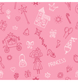 Hand drawn seamless pattern with princess girl vector image vector image