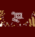 happy day of the dead horizontal banner vector image vector image