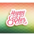 Happy Easter greeting card with triangles vector image vector image
