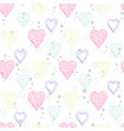 heart abstract pattern vector image vector image