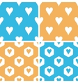 Hearts pattern set colored vector image