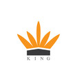 king logo vector image