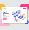 landing page template digital marketing cost vector image vector image