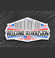 logo for houston vector image