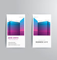 modern creative business card template vector image