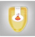 Plastic Food Container for Chicken Yellow vector image vector image
