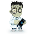 Professor Frankenstein with phone vector image vector image