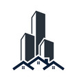 real estate building icon design template isolated vector image vector image