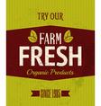 Retro Farm Fresh Poster vector image