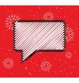Sale doodle blank speech bubble box Winter season vector image