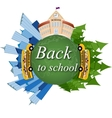 School back to school on the map vector image vector image